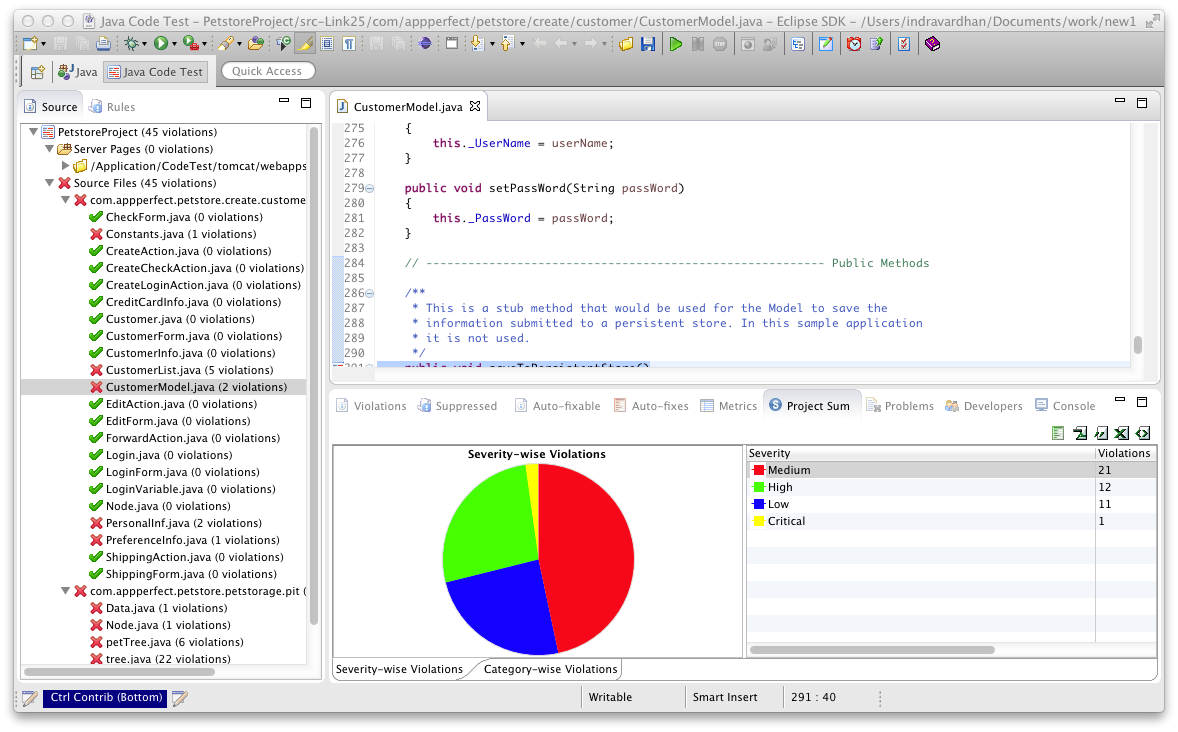 Eclipse Plugin - Java Source Code Analysis/Review