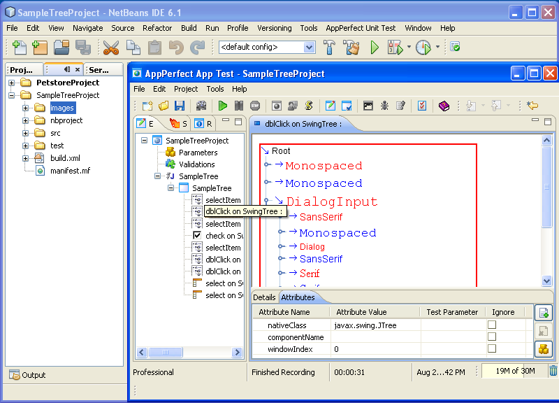 NetBeans Plugin - Windows/GUI Test