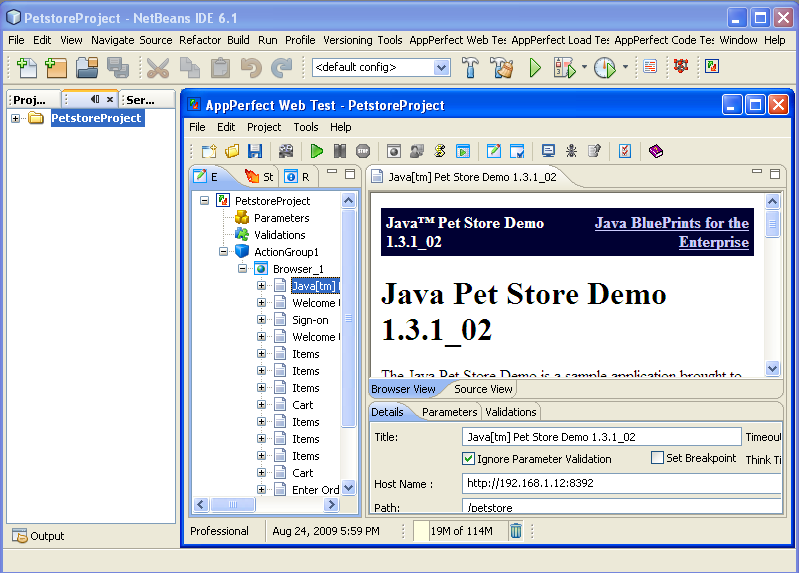 NetBeans Plugin - Web Functional/Regression Test