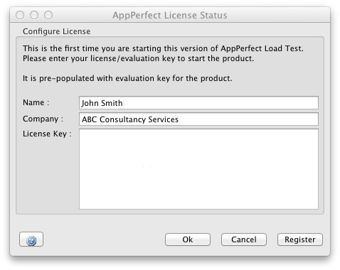 AppPerfect configure license