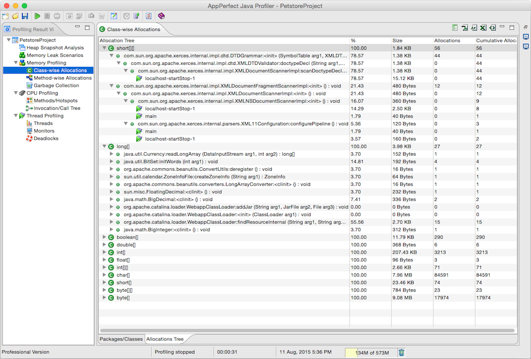 AppPerfect Java Profiler - AppPerfect