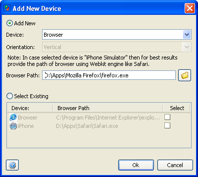 Cross Browser - Add New Device