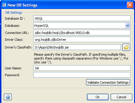 Database Load Testing : Configuring DB Connection