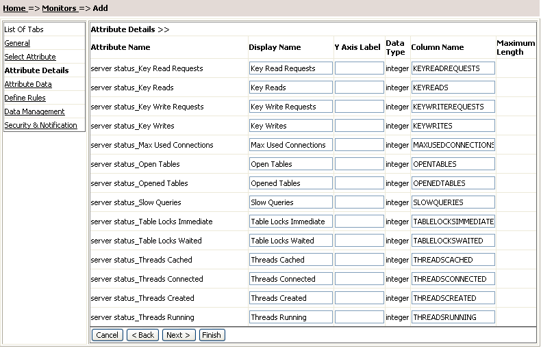 Database attribute - Attributes of table tag in html ...