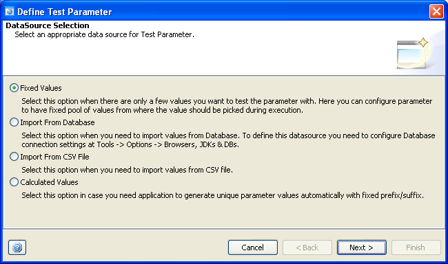 GUI Testing : Test Parameterization