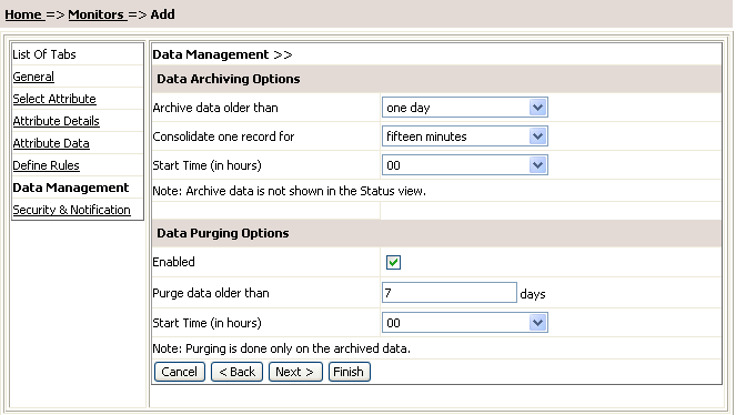 SNMP Network Monitoring : Data Management