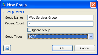 Web Services Functional Testing : Adding Action Group