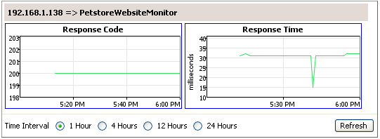 Website Monitoring Results